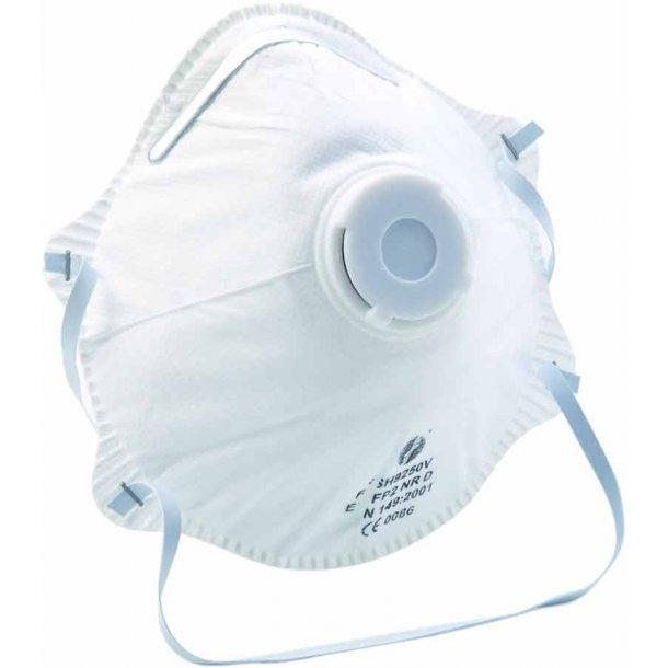 Støvmaske fin FFP2 m/ventil 2 stk.