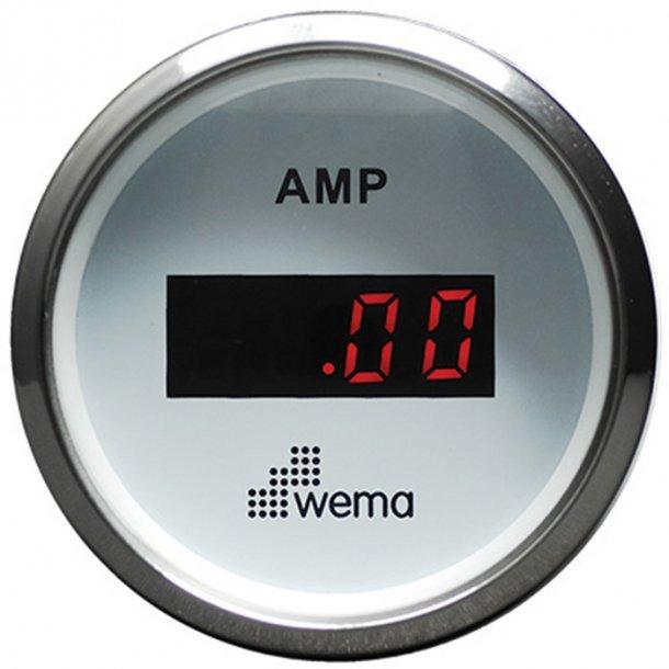 Wema Amperemeter RF/hvid 0-150 amp.