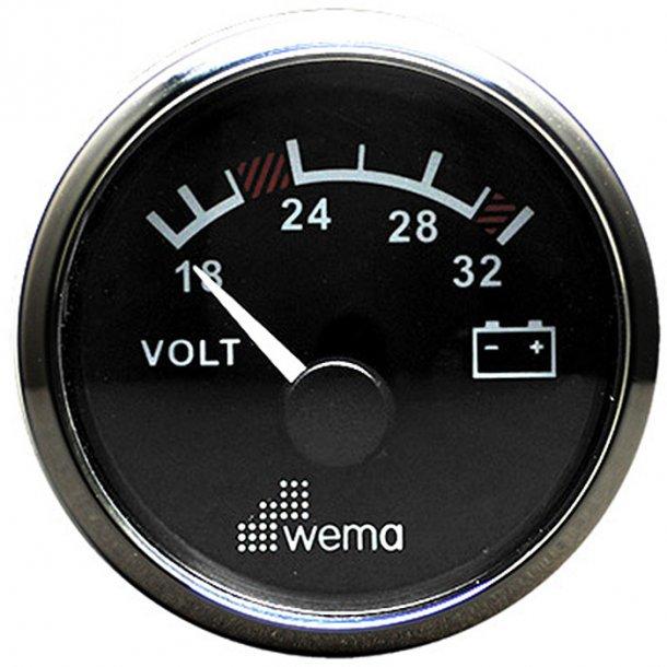 Wema Voltmeter RF/sort 16-32V
